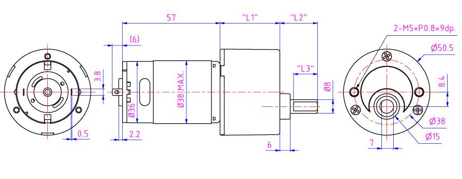 Motor el/éctrico Akozon DC 12V Motorreductor Caja de engranajes del motor el/éctrico micro de baja velocidad de alto torque 3 RPM 4MM Di/ámetro del eje